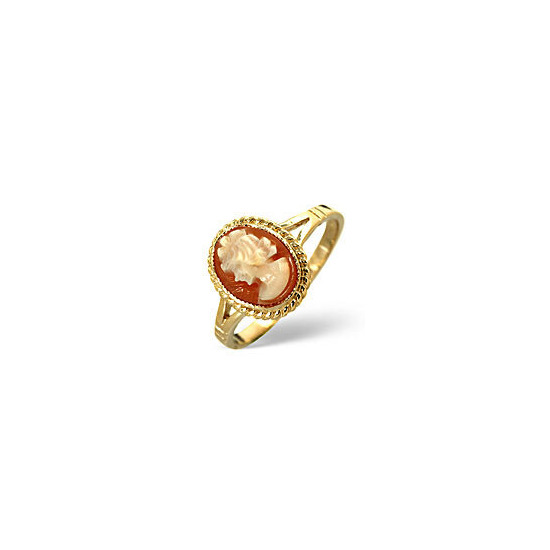 Cameo Ring  Cameo 9K Yellow Gold