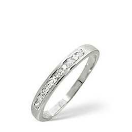 1/2 Eternity Ring 0.20CT Diamond 9K White Gold Reviews