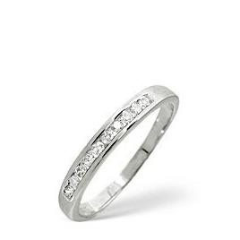 1/2 Eternity Ring 0.20CT Diamond 9K White Gold Reviews