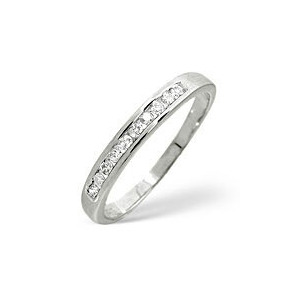 Photo of 1/2 Eternity Ring 0.20CT Diamond 9K White Gold Jewellery Woman