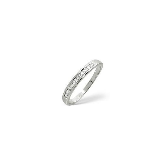 1/2 Eternity Ring 0.20CT Diamond 9K White Gold