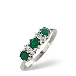 The Diamond Store Emerald 0 06CT Diamond Ring 9K White Gold Reviews