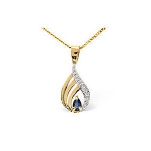 Photo of Emerald &  Diamond Pendant 9K Yellow Gold Jewellery Woman