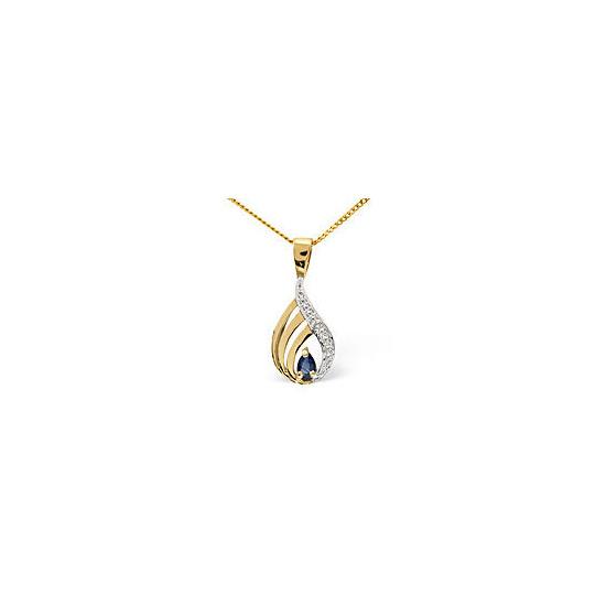 Emerald &  Diamond Pendant 9K Yellow Gold