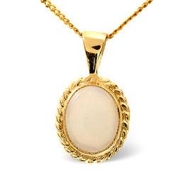 Gem-Stone Pendant  Opal 9K Yellow Gold Reviews