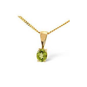 Photo of Gem-Stone Pendant  Peridot 9K Yellow Gold Jewellery Woman