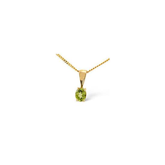 Gem-Stone Pendant  Peridot 9K Yellow Gold