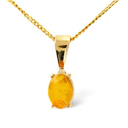 Gem-Stone Pendant  Amber 9K Yellow Gold Reviews