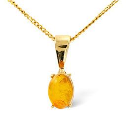 Gem-Stone Pendant  Amber 9K Yellow Gold Reviews