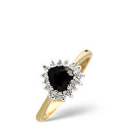Sapphire & 0.12CT Diamond Ring 9K Yellow Gold Reviews