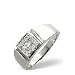 Mens Ring 0.33CT Diamond 9K White Gold Reviews