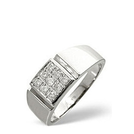 Mens Ring 0.33CT Diamond 9K White Gold Reviews