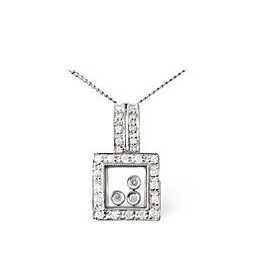 Floating Pendant 0.19CT Diamond 9K White Gold Reviews