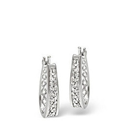 Hoop Earrings 0.25CT Diamond 9K White Gold Reviews