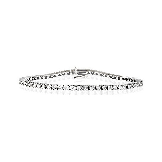 Tennis Bracelet 3.00CT Diamond 9K White Gold