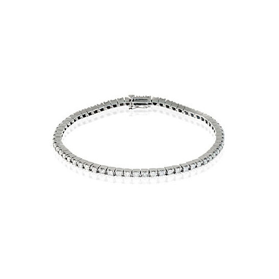 Tennis Bracelet 1.00CT Diamond 9K White Gold
