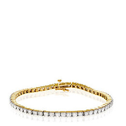 Tennis Bracelet 2.00CT Diamond 9K Yellow Gold Reviews