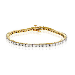 Photo of Tennis Bracelet 2.00CT Diamond 9K Yellow Gold Jewellery Woman