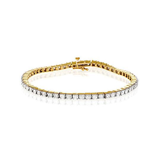 Tennis Bracelet 2.00CT Diamond 9K Yellow Gold