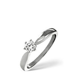 The Diamond Store H Si Solitaire Ring 0 25CT Diamond 18K White Gold Reviews