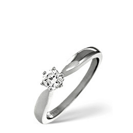 H/Si Solitaire Ring 0.33CT Diamond 18K White Gold Reviews