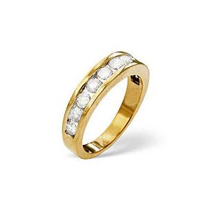 Photo of The Diamond Store 1 2 Eternity Ring 0 75CT Diamond 18K Yellow Gold Jewellery Woman
