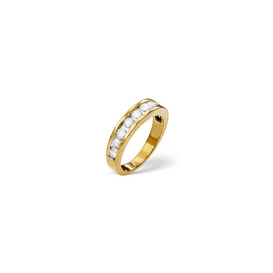 The Diamond Store 1 2 Eternity Ring 0 75CT Diamond 18K Yellow Gold