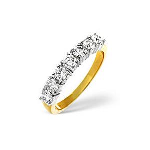 Photo of H/Si 1/2 Eternity Ring 0.50CT Diamond 18K Yellow Gold Jewellery Woman