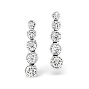 Photo of H/Si Drop Earrings 0.50CT Diamond 18KW Jewellery Woman