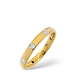 Wedding Ring 0.24CT Diamond 18K Yellow Gold Reviews