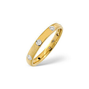 Photo of Wedding Ring 0.24CT Diamond 18K Yellow Gold Jewellery Woman