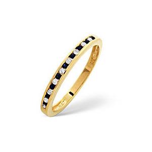 Photo of Sapphire & 0.10CT Diamond Ring 9K Yellow Gold Jewellery Woman