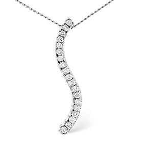 Photo of Drop Pendant 0.22CT Diamond 9K White Gold Jewellery Woman