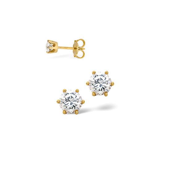 H/Si Stud Earrings 0.30CT Diamond 18KY