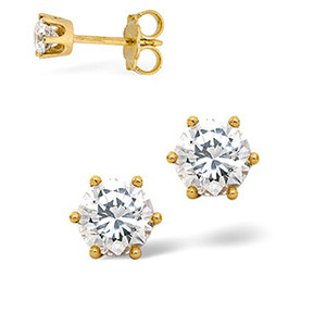 Photo of Stud Earrings 0.30CT Diamond 18KY Jewellery Woman