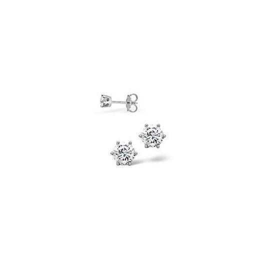 The Diamond Store H Si Stud Earrings 0 30CT Diamond 18KW