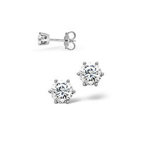 Photo of g/Vs Stud Earrings 0.30CT Diamond 18KW Jewellery Woman