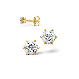 Photo of The Diamond Store H Si Certified Stud Earrings 0 50CT Diamond 18KY Jewellery Woman