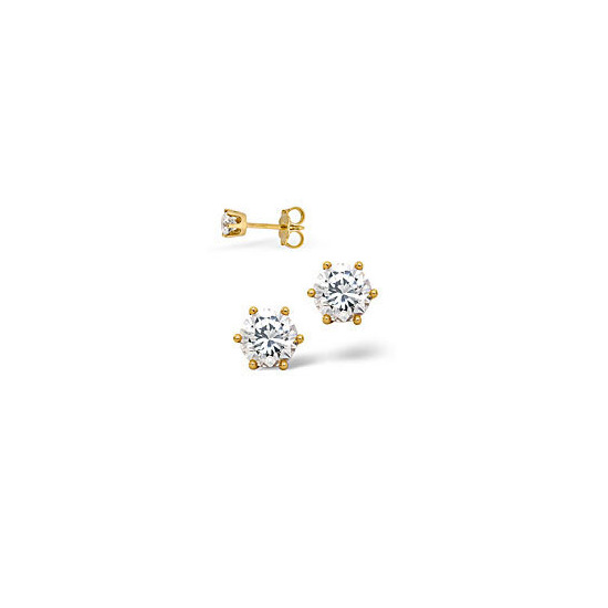 The Diamond Store H Si Certified Stud Earrings 0 50CT Diamond 18KY