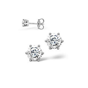Photo of The Diamond Store g Vs Certified Stud Earrings 0 50CT Diamond 18KW Jewellery Woman