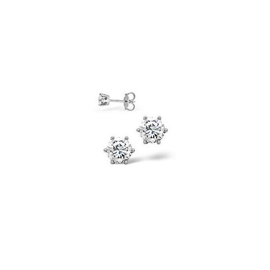 The Diamond Store g Vs Certified Stud Earrings 0 50CT Diamond 18KW