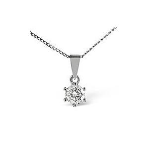 Photo of H/Si Solitaire Pendant 0.25CT Diamond 18KW Jewellery Woman