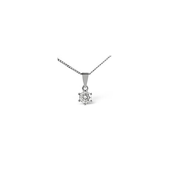 H/Si Solitaire Pendant 0.25CT Diamond 18KW