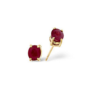 Photo of The Diamond Store Ruby Earrings Ruby 9K Yellow Gold Jewellery Woman
