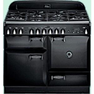 Photo of Rangemaster Elan Range Cooker 110CM Dual Fuel In Gloss Black ELAS110DFFBL Cooker