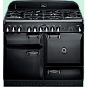 Photo of Rangemaster Elan Range Cooker 110CM Dual Fuel In Gloss Black ELAS110DFFBL Cooker