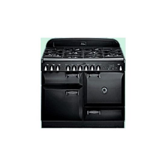 Rangemaster Elan Range Cooker 110cm Dual Fuel in Gloss Black ELAS110DFFBL