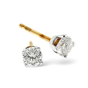 Photo of Stud Earrings 0.30CT Diamond 9K White Gold Jewellery Woman