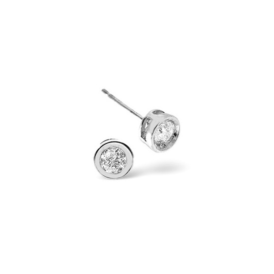 Stud Earrings 0.20CT Diamond 9K White Gold