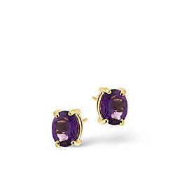 Amethyst Earrings  Amethyst 9K Yellow Gold Reviews